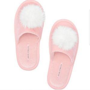 Victoria Secret Pom Pom Slippers